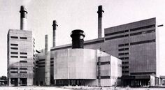 Refuse Incineration Plant Ruhleben (1968) in Berlin, Germany, by Hendel + Haseloff