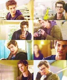 Peter Parker (played by Andrew Garfield) in The Amazing Spider-Man (2012)