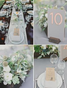 Wooden Box centerpieces.  SImilar color and feel.  Yours will have a few larger white blooms and more ferns for a little more NW'y feel