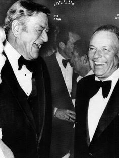 Frank Sinatra and John Wayne ~ HAPPY BIRTHDAY FRANK SINATRA ~ would have turned 99 years old today! ❤️