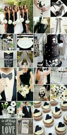 Kayla, I can see you doing a black and white wedding with pops of red! Black and White Wedding Inspiration. Halper Rakestraw tehe I like the idea of one dark color, very elegant Black And White Wedding Theme, Black Tie Wedding, Ivory Wedding, Black Party, Perfect Wedding, Our Wedding, Dream Wedding, Trendy Wedding, Wedding Reception