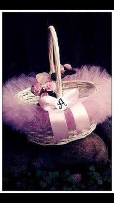 Pink tutu basket
