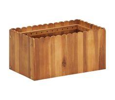 vidaXL Jardinera de madera maciza de acacia 50x30x25 cm | vidaXL.es