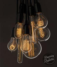 Ampoule Vintage - globe avec support boucle filament (ancienne Edison) a vis E27…
