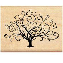 Inkadinkado Flourished Fall Tree Wood Stamp for Arts and Crafts, W x L Tattoo Bein, 1 Tattoo, Wrist Tattoo, Swirl Tattoo, Tattoo Pics, Ankle Tattoo, Shoulder Tattoo, Tattoos Familie, Petit Tattoo