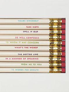 kate spade idiom pencils - perfect gift! #commandress