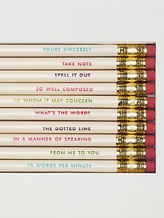 idiom pencils by kate spade new york