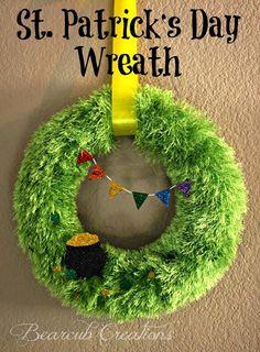 DIY St. Patrick's  : DIY  St. Patrick's Day Wreath