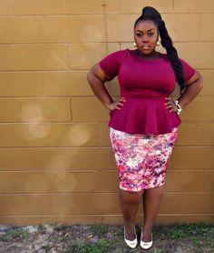 @charisma_monroe wearing Floral Skirt from @CORI COREN