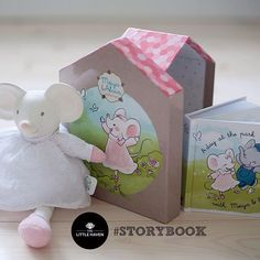Meiya the Mouse comes in gift box set including storybook.  #teether #naturalrubber #storybook #albury #thelittlehaven