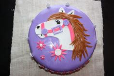 horse cakes for girls birthday | Kati's Cakes: Pink and purple horse cake!
