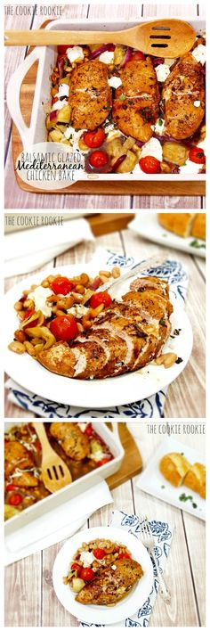 Balsamic Glazed Mediterranean Chicken Bake - The Cookie Rookie