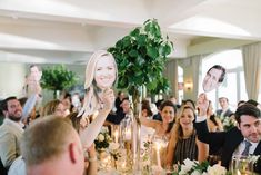 "A game of ""who's most likely to"" is a fun way to get all of your guests involved during the speeches.    Photography by Barb Simvoka of   Tara McMullen Photography   as seen in   this real wedding ."