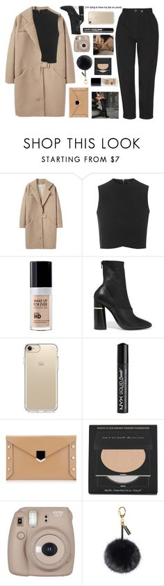 """Untitled #2897"" by tacoxcat ❤ liked on Polyvore featuring Cacharel, Topshop, MAKE UP FOR EVER, 3.1 Phillip Lim, Speck, NYX, Smashbox, Fujifilm and Helen Moore"