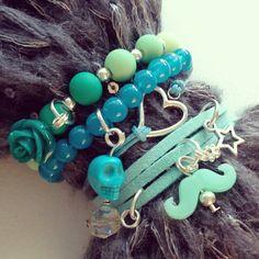 Stoer blauwe groene combi