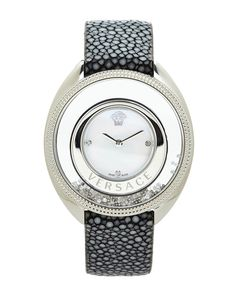 VERSACE Silver-Tone Ladies Diamond Watch #Accessories #WishList