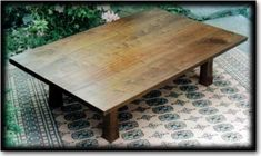 Handmade Tea Table from Pete Novick of Hayama Cabinetmakers, LLC. Handcrafted in South Newfane, Vermont. Works well with tatami mats.