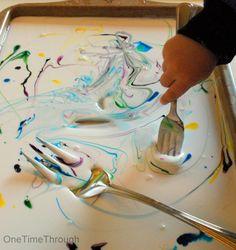 Coloured Glue Sensory Activity