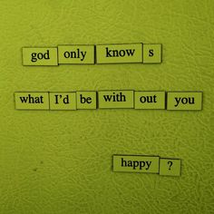 God Only Knows Art Print by Depressing Fridge Poems - X-Small Hyun Kyung, Gloomy Sunday, Magnetic Poetry, Got Memes, Poetry Poem, Romantic Love, Jealousy, Word Porn, Trauma