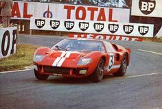 1966 Le Mans Ford GT40 Mk. II # 3 Dan Gurney - Jerry Grant a Shelby American entry DNF. S Stevens