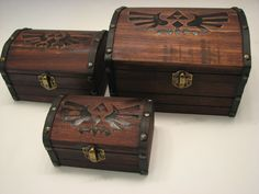 Legend of Zelda Treasure Chest Medium by BlackLabelGoods on Etsy I WANT THIS FOR MY CARD BOX AT MY WEDDING!