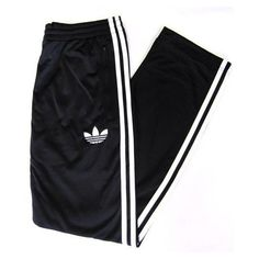 Adidas Firebird Track Pants (Bottoms) in Black/White (255 RON) ❤ liked on Polyvore featuring activewear, activewear pants, pants, bottoms, sweatpants, adidas, adidas sweatpants, sweat pants, track pants and track suit