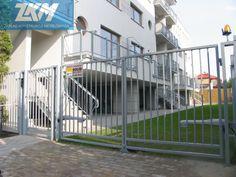 Ogrodzenie stalowe - malowane proszkowo