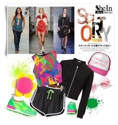"""Sporty Chic with SheIn"" by metropulse on Polyvore featuring moda, Tokyo Rose, Topshop, ZeroUV, Miss Selfridge, Jeremy Scott, WithChic e Milly"
