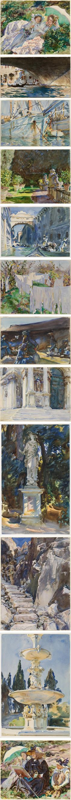 John Singer Sargent watercolors at the Brooklyn Museum