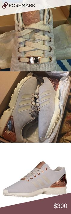 Adidas flux J metal copper ⭐️Size 6.5 youth/Womens 8.5⭐️Adidas⭐️copper metal⭐️torsion⭐️brand new⭐️cheaper on merc :) Adidas Shoes Athletic Shoes