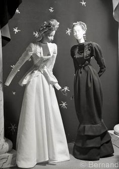 Theatre de la Mode: Paris 1945. This exhibit was a playful and fun manner of getting back into fashion. There were 27 inch mannequins styled in clothing and all proceeds went to war victims.