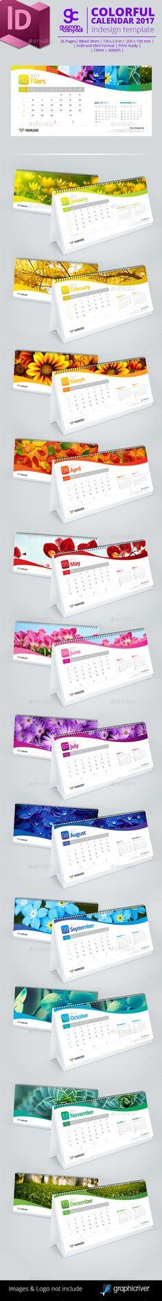 Colorful Calendar 2017 - Calendars Stationery