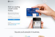 Square website homepage on bestwebsite.gallery