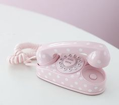 pink polka dot phone