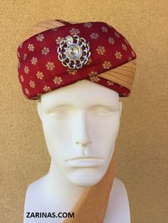 Pre-Wrapped Turban http://www.zarinas.com/turbans.shtml  Pakistani / Indian men's ready to wear pre-wrapped turbans (pagri) or Sherwani turbans. Our elegant turbans are perfect for special occasions, parties, or weddings, and are sure to add a special touch to any traditional outfit. With charming colors and beautiful fabrics, these turbans will not disappoint.