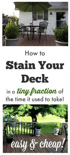 Tips, tricks, and tools for getting that deck staining job done in a flash! SOON deck, I'm coming after you w/a brush! Outside Living, Outdoor Living, Outdoor Spaces, Home Renovation, My Pool, Diy Deck, Up House, Decks And Porches, Front Porches