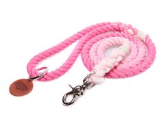 THANKSGIVING SALE Petal Pink Ombré Rope Dog Leash by ForeverMootsy