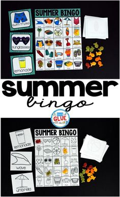 Play Bingo with your elementary age students for a fun summer themed game! Perfect for large groups in your classroom or small review groups. Add this to your summer party with 30 unique summer Bingo boards or end of year celebration with your students! T