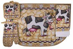 Kitchen Accessories With Cows Home - Cow Kitchen Decor Items Grape Kitchen Decor, Kitchen Decor Sets, Sunflower Kitchen Decor, Kitchen Themes, Kitchen Gifts, Kitchen Stuff, Kitchen Ideas, Country Kitchen, Kitchen Ware