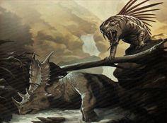 Monster Concept Art, Fantasy Monster, King Kong Skull Island, Creature Drawings, Extinct Animals, Creature Concept Art, Prehistoric Creatures, Cryptozoology, Reptiles And Amphibians