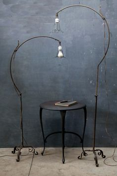 (via Home Decor Gray Space / Hand Forged Industrial Bronze Roycroft Arts & Crafts Floor Lamps)