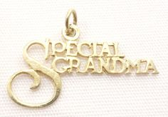 14k Solid Gold Special Grandma Pendant Family Love Grandparents Free Shipping #Pendant