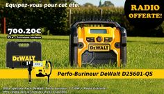 Pack Dewalt Perfo-Burineur DeWalt D25601-QS + radio!