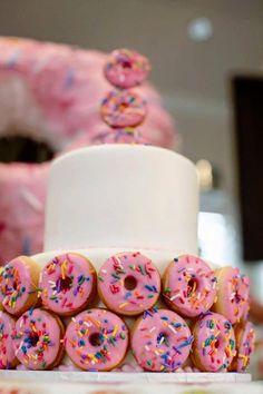 Donut Detail on a Cake from a Donut Themed Birthday Party via Kara's Party Ideas! http://KarasPartyIdeas.com (34)