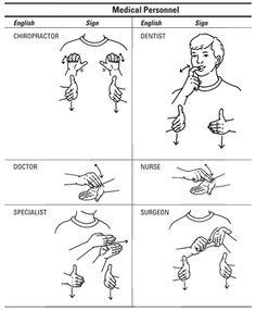 Medical Professionals sign language