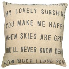 Sugarboo Designs Pillow You Are My Sunshine @Sarah Chintomby Nasafi Grayce #sarahrichardson