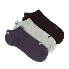Puma 3pp Invisible Sneakers Socks - Navy/Grey/Nightshadow Blue ...
