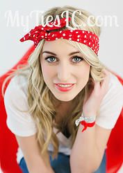 My Twisted Ties- Red/White Dots  $20 http://www.mytieslc.com/#!my-twisted-ties/c1bvh  #myties #myties #mytwistedties #headband #headwrap