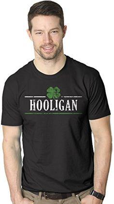 Mens Irish Clover Hooligan Funny St. Paddy's Day Drinking T shirt (Black)  #Black #Clover #Drinking #Funny #Hooligan #Irish #Men's #Paddy's #Shirt TshirtPix.com