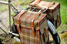 The Daily Tweed – Hjeltness Panniers Velo Retro, Tweed Ride, Bicycle Bag, Bicycle Panniers, Leather Bicycle, Scottish Tartans, Bike Style, Tartan Pattern, Bike Accessories
